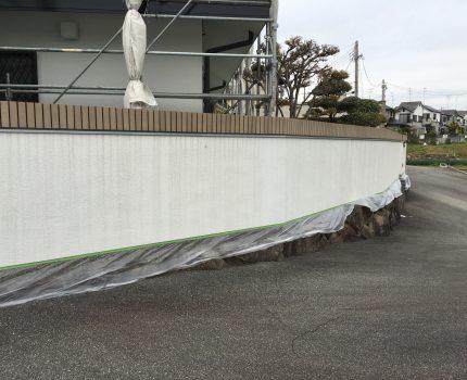 全面塗装→クラック補修・水切り追加